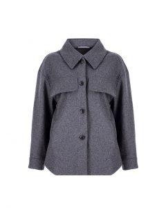 Basic&me - Kalın Kaşe Gri Gömlek/Ceket
