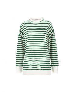 Basic&me - Yeşil Beyaz Çember Sweatshirt